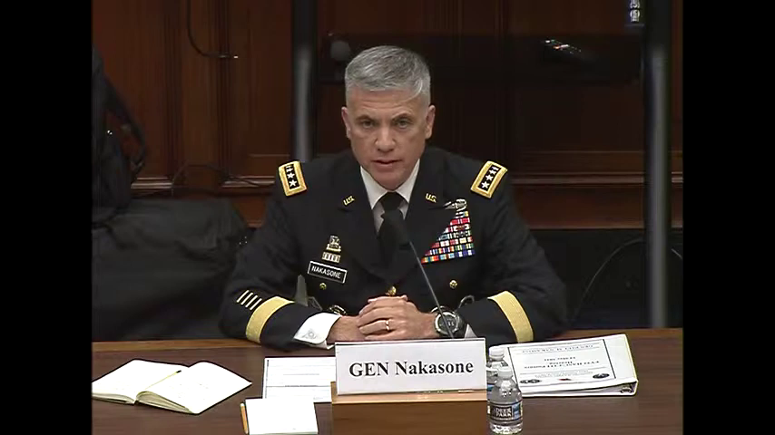 """Subcommittee on Cyber, Innovative Technologies, and Information Systems Hearing: """"Operations in Cyberspace and building Cyber Capabilities Across the Department of Defense"""""""
